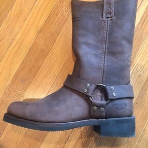 Never worn Harley Davidson motorcycle boots